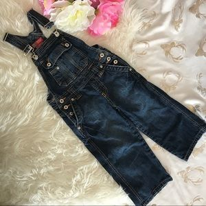 Faded Glory Blue Jeans Oberall Sz 4Kids (N11)